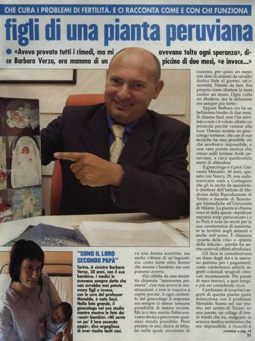 articolo su gravidanza impossibile, grafie a una pianta peruviana, moca