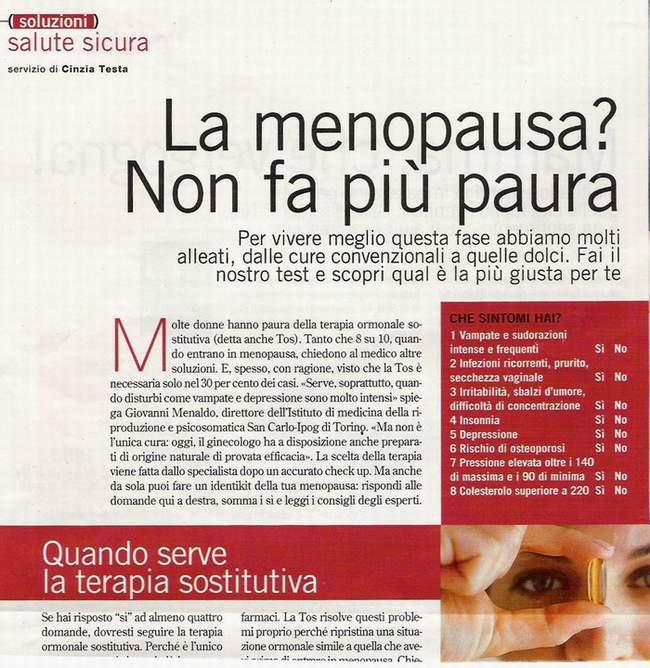 fecondazione  La menopausa Non fa più paura