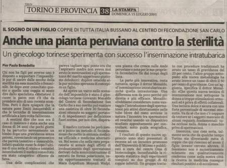 fecondazione  intratubarica.la stampa